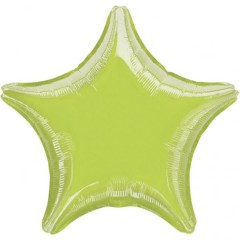 Fóliový balón Lime Green Star1 ks 45 cm 1 ks