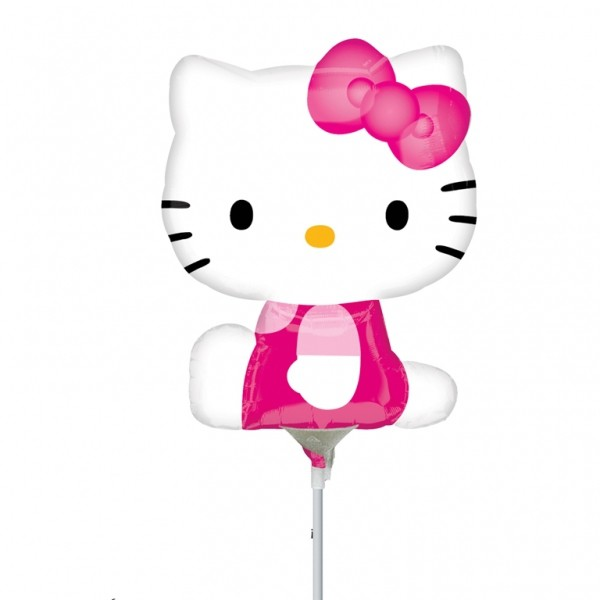 Mini fóliový balón Hello kitty sidepose 1 ks 23 cm