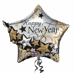 Foliový balón New Year Stars 45 cm, 1 ks