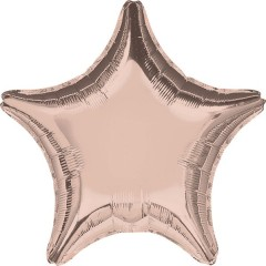 Fóliový balón Rose Gold Star1 ks