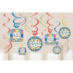 Spirály Bright  Rainbow party