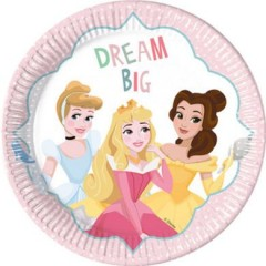 Talíře Disney Princess Dream 23 cm, 8 ks