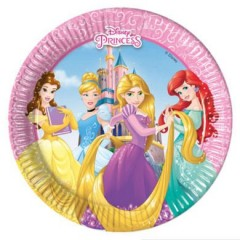 Talířky Disney Princess 20 cm, 8 ks