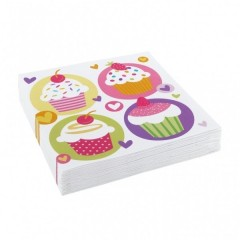 Ubrousky Muffin Party 33 cm x 33 cm, 20 ks