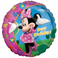 Foliový balón Minnie happy birthday